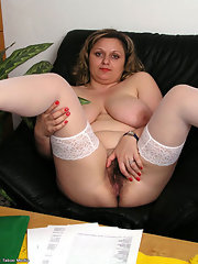 stockings porn pictures Hairy Bbw