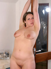 Naked chubby woman in high heels — 6